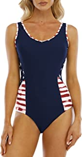 Women's Zip Front One Piece Swimwear Racerback Surf Suit...