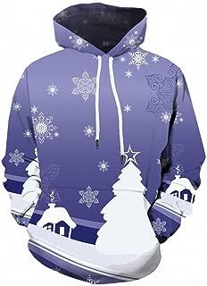 Men Ugly Christmas Sweater Hoodie Pocket Sweatshirt Tops Blouse Jacket Coat