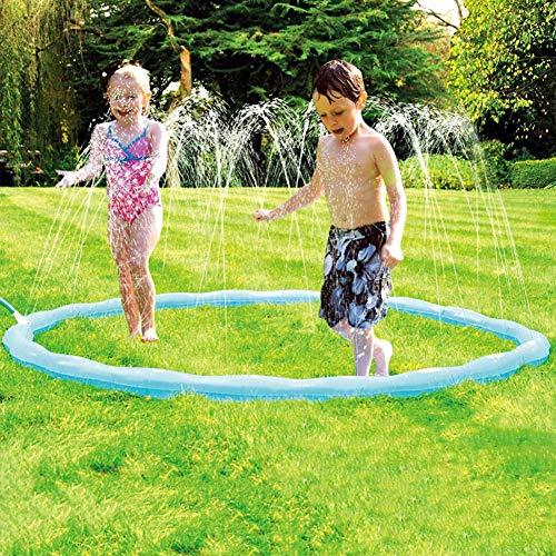 MYPXX Anillo de Rociado de Agua Juguete Acuático para Niños Jardín de Verano Splash Pad Aspersor de Juego Tapete de 68 Pulgadas