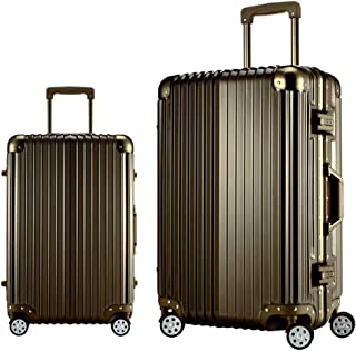Trolley Travel Travel Essential Rugged Unisex Suitcase Gold