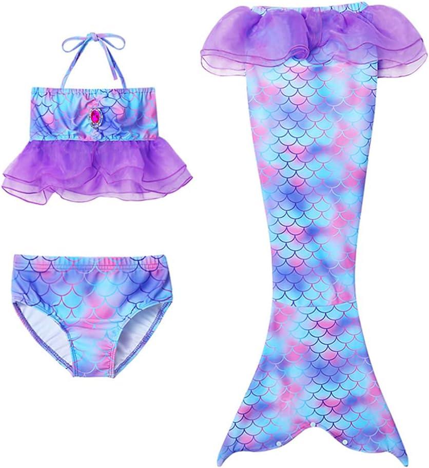 PRETYZOOM Girls Swimsuit Mermaid Tails Set Houston Mall Suit f Bikini Max 47% OFF