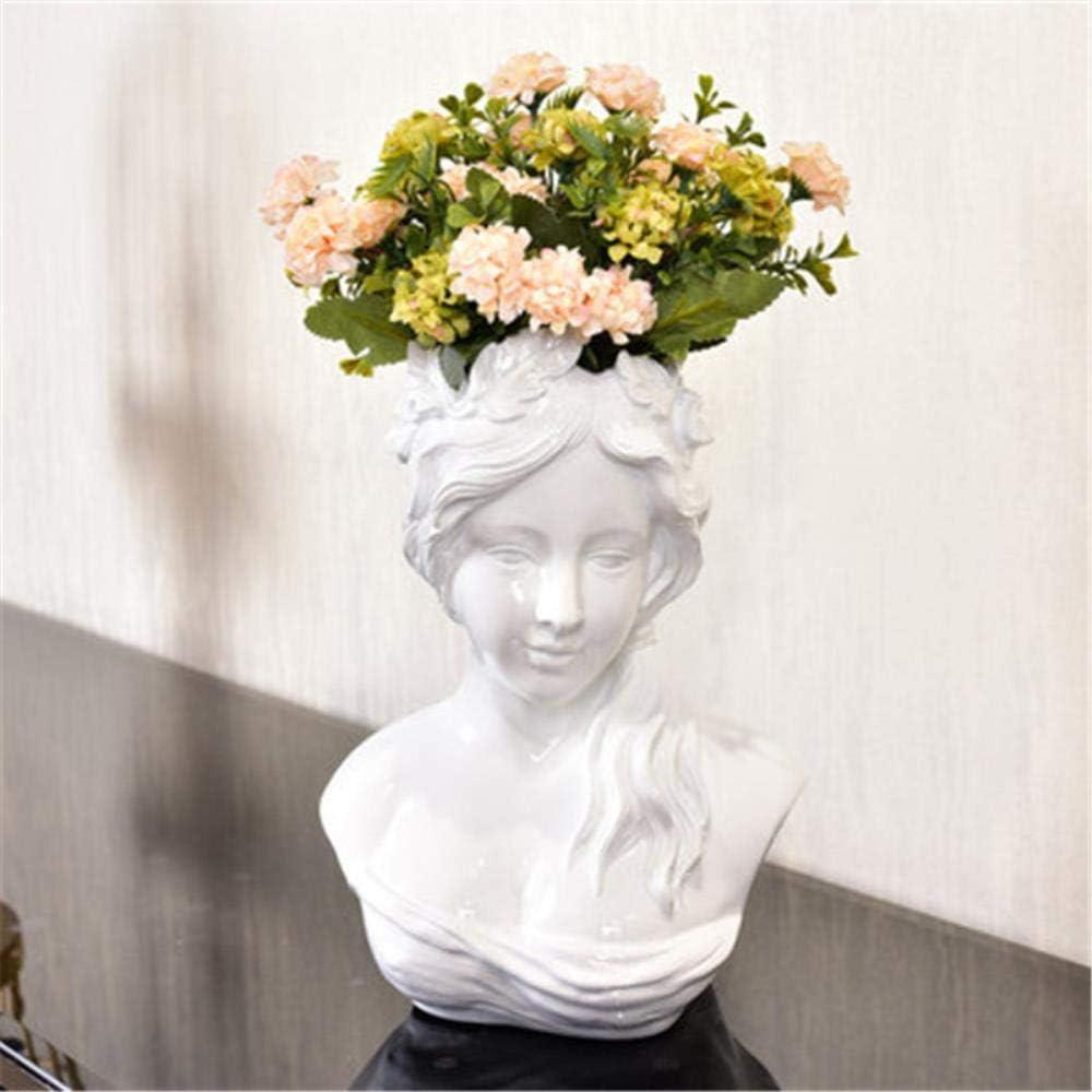 Nordic Goddess Venus hoofd portretten hars standbeeld vaas creatieve woonkamer tv-kast schikken bloemen bloempot multi
