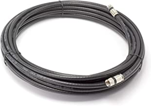 THE CIMPLE CO - 75' Feet Black : Solid Copper Center Conductor, Made in The USA : RG6 Coaxial Cable with Connectors, F81 / RF, Digital Coax for Audio/Video, CableTV, Antenna, Internet, Satellite
