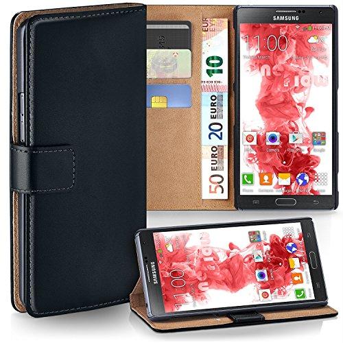 MoEx Premium Book-Case Handytasche kompatibel mit Samsung Galaxy Note 3 | Handyhülle mit Kartenfach und Ständer - 360 Grad Schutz Handy Tasche, Schwarz