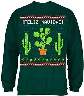Old Glory Cactus Desert Feliz Navidad Ugly Christmas Sweater Mens Sweatshirt