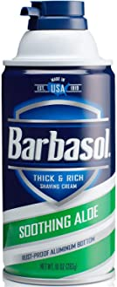 Barbasol Soothing Aloe Thick & Rich Shaving Cream 10 Oz (2 Pack)
