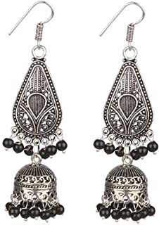 Sansar India Cone Beads Jhumka Indian Earrings Jewelry for Girls and Women