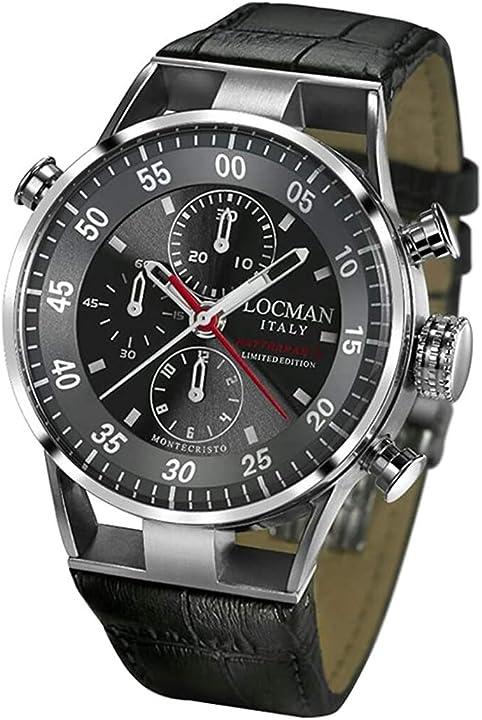 Orologio locman montecristo rattrapante, cassa in acciaio e titanio 0515v01-00gyrpsa