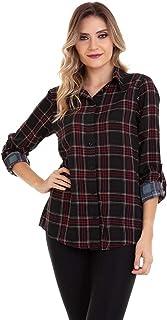 Camisa Xadrez Viscose Kinara