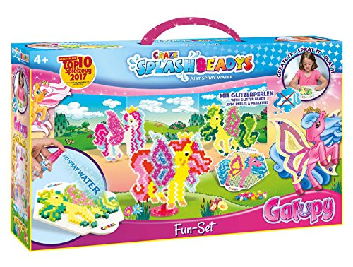 Craze 12253 Bügelperlen Bastelset Funset Splash Beadys Galupy Fun Set, mit Perlen und Zubehör, Steckperlen zum Basteln, XL