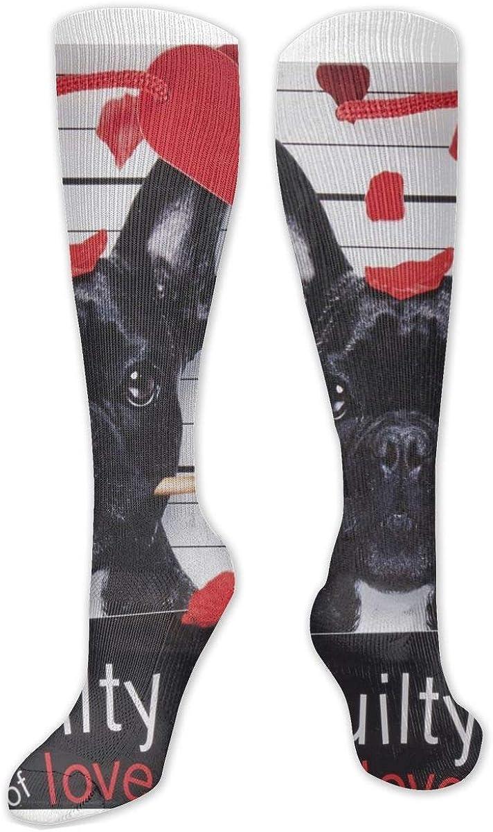 Guilty Of Love Knee High Socks Leg Warmer Dresses Long Boot Stockings For Womens Cosplay Daily Wear