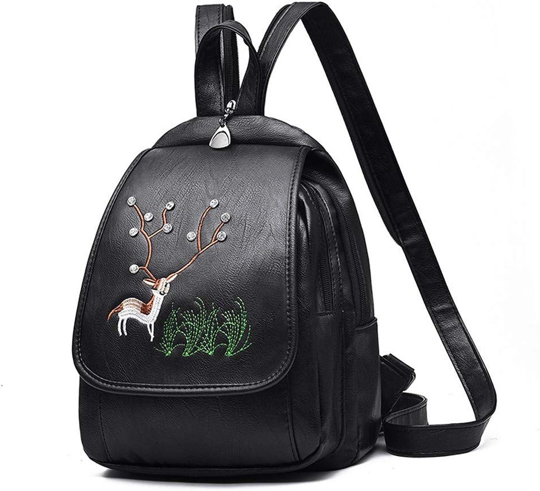 WMQQ Rucksack, Männer Und Frauenpu Weibliche Tasche Rucksack Umhängetasche Mode Handtasche Diagonale Rucksack Tasche B07KJHXJT6  Stilvoll und charmant