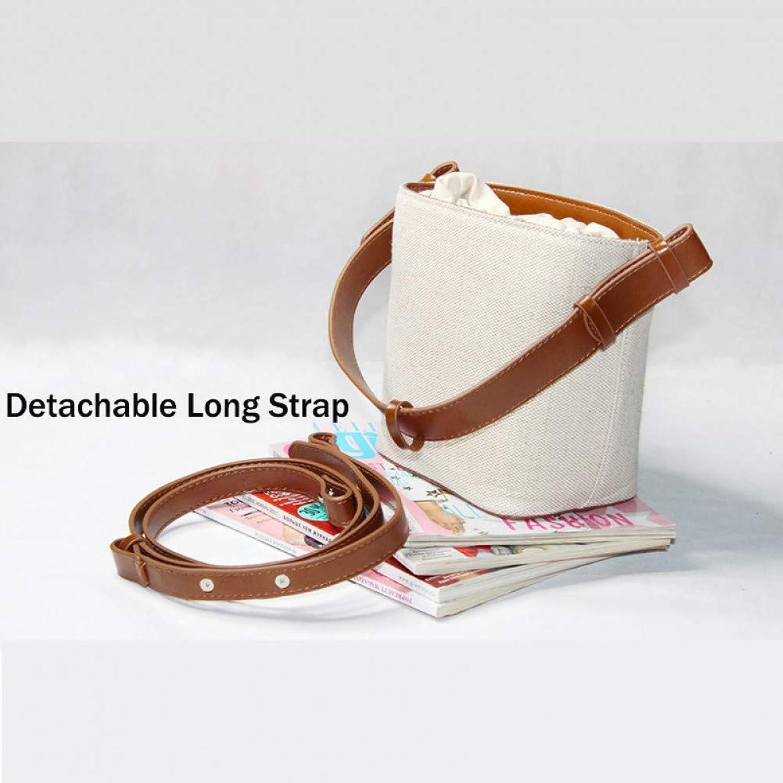 JQSM Fashion Bucket Bag Women's Sbody Bags Beach Handbag Weave Portable Shoulder Messenger Bag with Detachable Strap