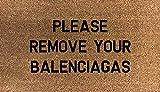 70 cm x 40 cm Please remove your BALENCIAGAS Tappetino interno in fibra di cocco stampato