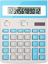 $58 » Basic Calculator Solar Powered Calculator 12-Digit Calculator Large Screen Display Large Buttons Accounting Office Design ...