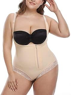 TOPMELON Women's Corset Slimming Underwear Butt Lifter Bodysuit Lace Waist Trainer Underwear Shapers