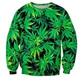 Gama Hombres Digital estándar Hoja Verde Marihuana suéter impresión 3D,W4245,S