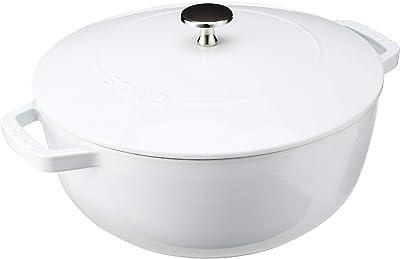 STAUB Cast Iron Essential French Oven, 3.75-quart, White