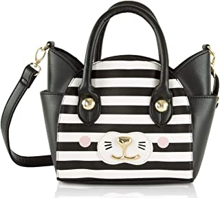 Johnson Katt Cat Face Small Satchel Crossbody Handbag