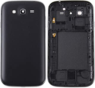 Lingland Middle Frame Bezel + Battery Back Cover for Galaxy Grand Duos / i9082(Black) cell phone rear covers placement par...