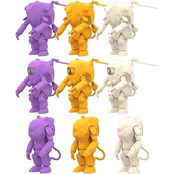 海洋堂 カプセルキット 35ガチャーネン 横山宏ワールド FINAL 全9種 (3種×成形色3色) プラスチック製 組み立てモデル 9個入り BOX KDCK25