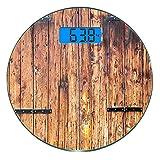 Escala digital de peso corporal de precisión Ronda Rústico Báscula de baño...