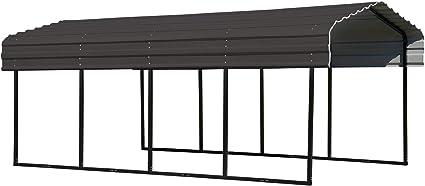 Amazon Com Arrow Shed 10 X 20 X 7 Foot Heavy Duty Galvanized Steel Metal Multi Use Shelter Shade Carport 10 X 20 X 7 Garden Outdoor