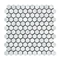 Carrara White Italian (Bianco Carrara) Marble Hexagon Mosaic Tile, Honed