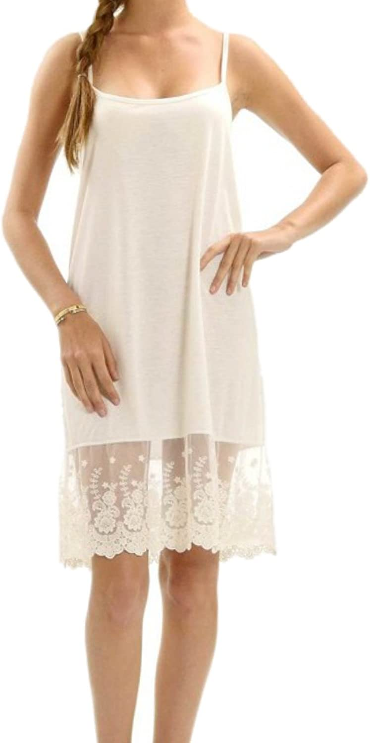 Melody Max 64% OFF Women's Full Lace Slip Solid Skirt Dallas Mall Extender Knit