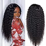 DBMUDBMU Hair Curly Lace Front Wigs Brazilian Human Hair Lace Front Wigs for Black Women 4X4 Lace front Wigs Human Hair Pre Plucked with Baby Hair(26Inch,150% Density)