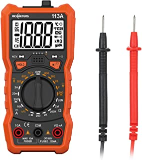 Gecheer RM113A NCV Digital Multimeter 2000 Counts HFE AC/DC Spannungsmessgerät mit Magnetic Suction Flash Light Hintergrundbeleuchtung Large Screen Multi Meter