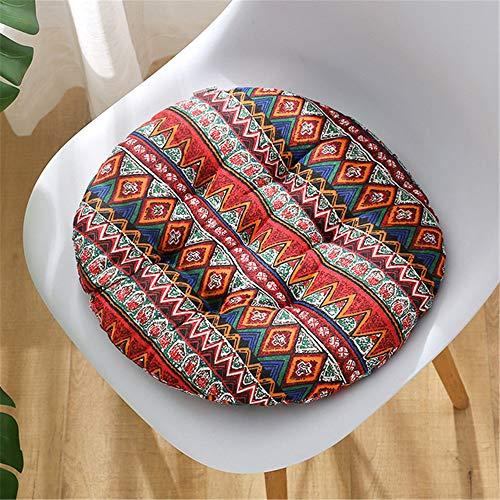 Morbuy Cuscini per Sedia Forma Rotonda, 100% Cotone Spessa Comoda Seduta Traspirante Cuscino per Pavimento per Interno ed Esterno mobili e Arredamento da Giardino (Boemia,45 * 45)