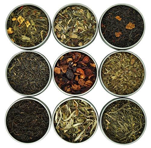 Heavenly Tea Leaves Assorted 9 Loose Leaf Tea Gift Box, 9 Loose Leaf Teas & Herbal Tisanes (Approx....