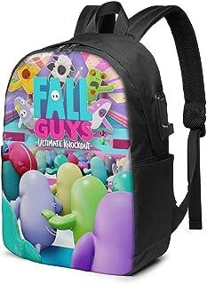 Fall-Cool-Guys - Mochila para computadora Unisex de 17 Pulgadas para niños Bolsa de Viaje con Puerto de Carga USB Oficina Unisex Durable Noteboo