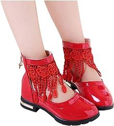 Chaussures Princesse Fille Sandales en Dentelle Fl