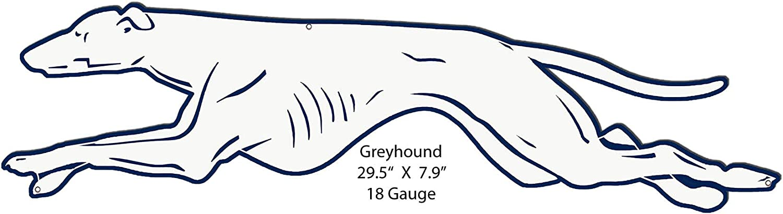 Garage Art Free shipping New Signs Greyhound Laser 1 year warranty Cut Out 7. Metal Nostalgic Sign