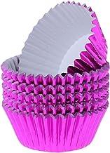 100 قطع كب كيك ورقة كأس الألومنيوم احباط الكعك الخبز الكؤوس بطانات الكعك القضية zhengpingpai (Color : Purple)