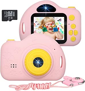 JLtech Kids Camera, Digital Video Recorder Camera for Girls, Rechargeable Shockproof Mini Children Camera Toys with 16GB Card Included, 2019 Newest Version (Pink), JLtech002