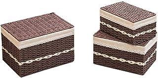 ADSE Boîte de Rangement Pliable Cube avec couvercles et poignées Organisateur de bac de Panier de Rangement en Tissu Pliab...