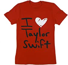 Taylor Swift Red I Heart Tee T-Shirt Unisex Small