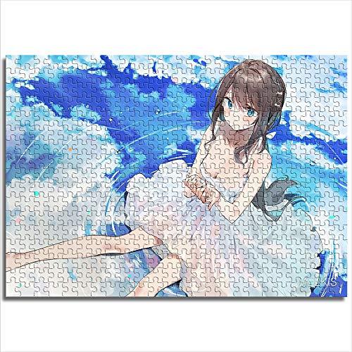 CAFO Preciosa niña en vestido blanco, nube reflectante de alta definición, 1000 unidades