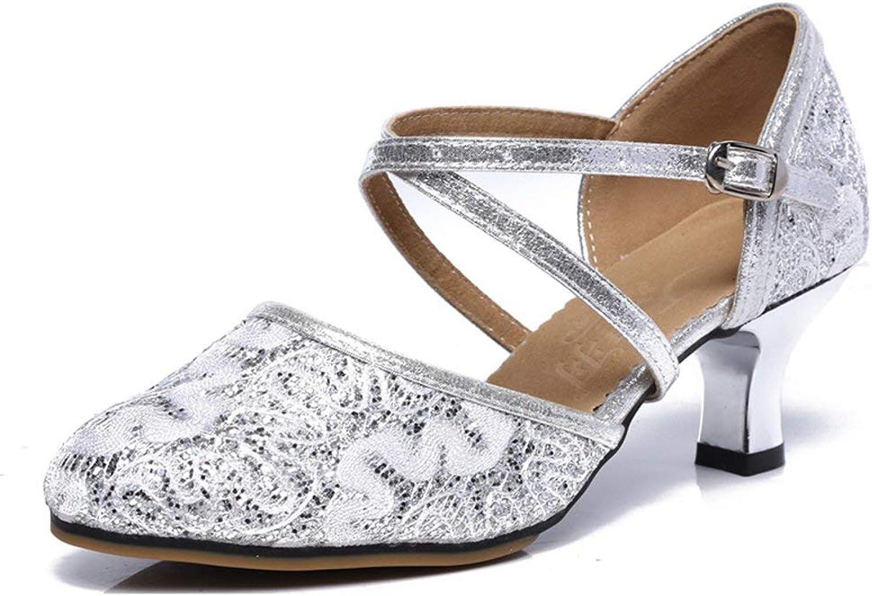 df0285f8737a Fuxitoggo damen damen damen Net Surface Latin Dance Schuhe ...