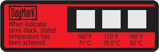 DayMark Dishwasher Temperature Labels, 160 Degree F/170 Degree F/180 Degree F (Pack of 24)