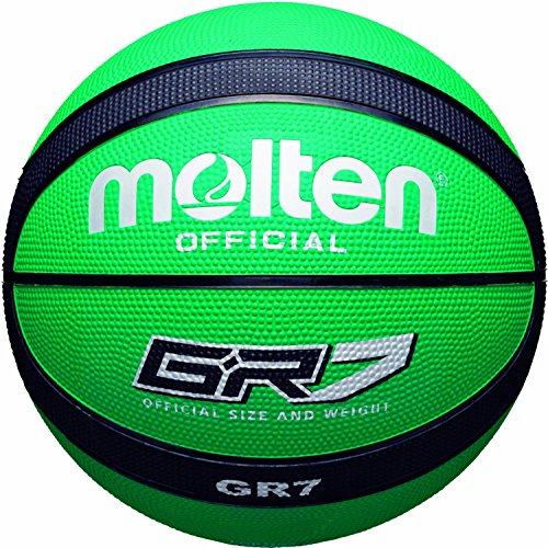Molten BGR Basketball, Indoor/Outdoor, Premium Rubber, Green/Black, Size 7,...