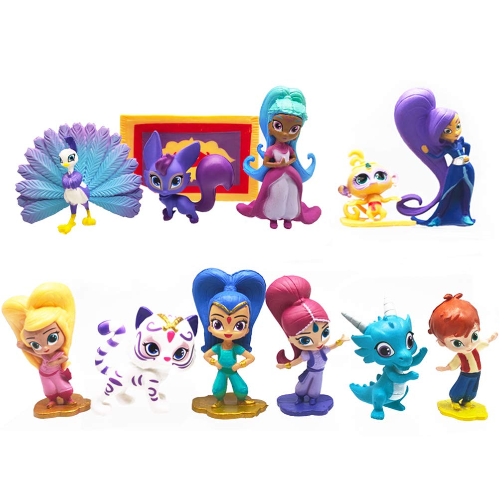 PRINCESS SAMIRA Shimmer And Shine PVC TOY Playset Figure Birthday CAKE TOPPER!