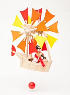 Wupper Airlines Wooden Hanging Mobile Small 8
