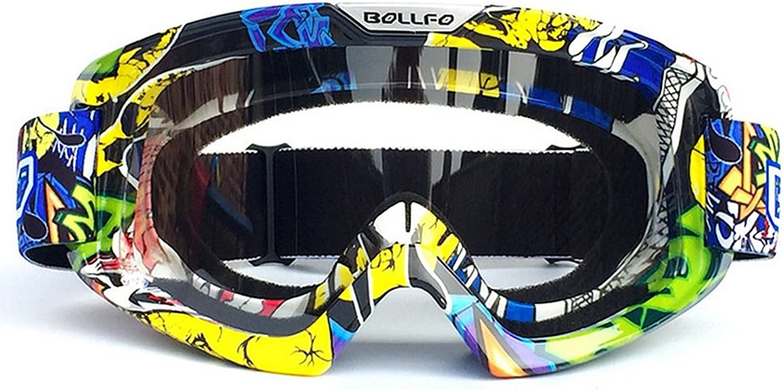 Helmet glasses Anti-fog Personality Frame Adult Motocross Goggles Dirt Bike ATV Motorcycle Off Road Racing MX Riding Goggle Dustproof Anti-Scratch UV Predection Downhill Motorbike Ski Snowboard Goggle