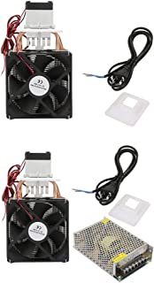 DC 12V 5A Semiconductor Refrigerator Semiconductor Refrigeration Thermoelectric Cooler Thermoelectric Peltier DIY Mini Fridge with Fan(#2:Cooler+Power Supply)