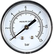 uxcell Pressure Gauge, 0-12 Bar Dual Scale, 2