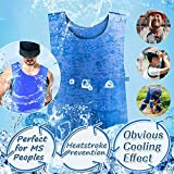 10. Body Cooling Vest for Men Women MS Peoples PVA Adjustable Cold Vest Fabric Sport Cool Vest Body Ice Vest for High Temperature Operator Sunstroke Protective